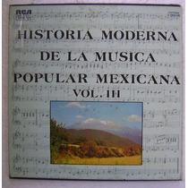 Musica Popular Mexicana Vol. 3 Album De 3 Discos Lp Vinilo