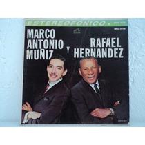 Acetato Disco Lp Vinil Marco Antonio Muñiz Rafael Hernández