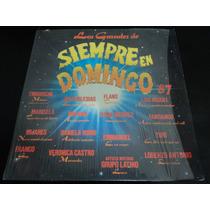 Acetato Disco Lp Vinil Los Grandes De Siempre En Domingo