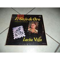 Disco Acetato Lucha Villa El Gallo De Oro