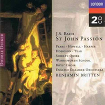 Britten - Js Bach Pasión Cristo Evangelio San Juan 2cd Bfn