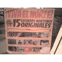 Funda De Disco Lp De Acetato15 Exitos Norteños Viva El Norte