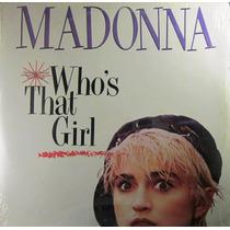 Madonna - Whos That Girl Maxi Single Lp Importado Usa Nuevo