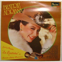 Beatriz Adriana Con La Banda La Costeña 1 Disco Lp Vinilo