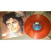 Michael Jackson Lp Single Thriller Rojo Hecho En Mexico