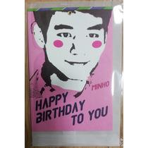 Shinee Minho Postal . Tarjeta De Felicitaciòn Oficial Sm