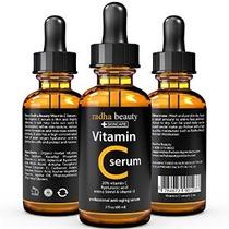 Suero C Vitamina Para Cara - 2 Fl. Oz - 20% Orgánico Vit C +