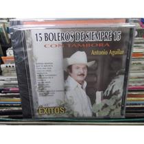Antonio Aguilar 15 Boleros De Siempre Con Tambora Cd Nuevo