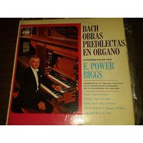 Disco Acetato De Bach Obras Predilectas En Organo