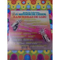 Serie De Colección Rancheras De Lujo Lp 15 Éxitos 1958.