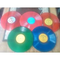 Discos Vinil Decoracion Colores Pop Manualidades Excelentes
