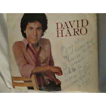 Antiguo Disco Lp Autografiado Por David Haro