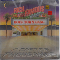 Acetato Disco Lp Boys Town Gang Rich And Famous High Energy