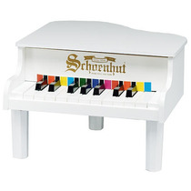 Schoenhut 18 Key Mini Piano De Cola - Blanco
