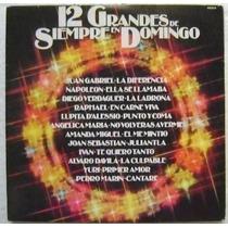12 Grandes De Siempre En Domingo 1 Disco Lp Vinilo