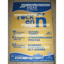Poster Rock En Ñ 2001 En Mexico Bunbury Aterciopelados Y Mas