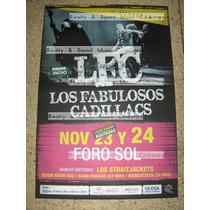Los Fabulosos Cadillacs Poster Foro Sol 2013 De Coleccion!!