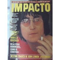 Muerte De John Lennon,revista Impacto,mx,24,dic,1980