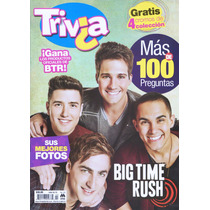 Revista Trivia Big Time Rush (2013) Nueva Y Original