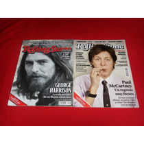 The Beatles George Y Paul - Revistas Rolling Stone Lote De 2