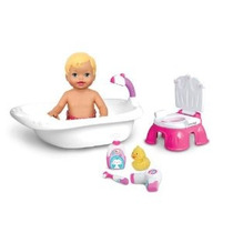 Fisher-price Little Mommy Bath Y Potty Training Set De Juego