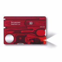 Swisscard Lite Victorinox 13 Usos Tipo Tarjeta Colo Rojo Red