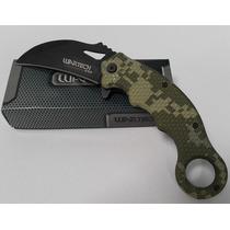 Navaja Karambit Camo Verde Wartech Tactico Cuchilla Espada