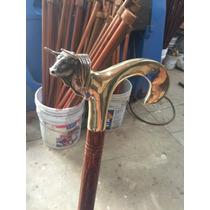 Exclusivo Bastón Artístico Con Empuñadura De Toro En Bronce