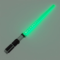 Lightsaber Yoda Espada Disney Store Star Wars Sable Verde