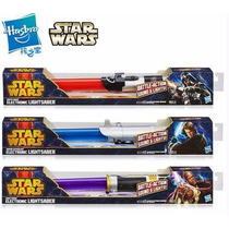 Sable Star Wars Lightsaber Retractil Hasbro Kylo Ren Luz Son