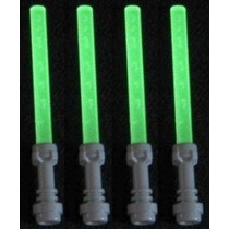 Lego Lightsaber Lote De 4: Glow-in-the-dark Sables De Luz Co
