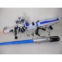 Gran Pistola Espada Laser Sable Blaster Star Wars Clone D970