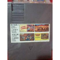 Casset Nes 4 In1 Street Fighter2 ,bucky Hojare,capitan Ameri