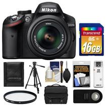 Nikon D3200 Kit Incluye Lente Maleta Disparador Tripie Memor