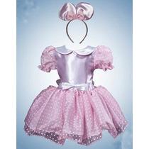 Vestido Princesa Disfraz Mimi En Rosa Con Blanco Solo $350