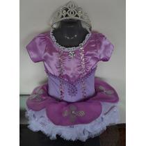 Hermoso Disfraz Princesa Sofía Tipo Tutú Con Diadema