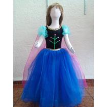 Hermoso Vestido Largo Anna Frozen