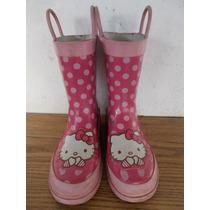 Botas De Lluvia Para Niñas Hello Kitty 11/12us #a92