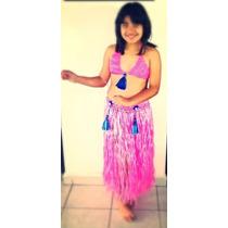 Traje De Hawaiana Para Niñas Y Adultos
