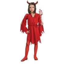 Diablo Disfraz - Chica Mediana Niños Niñas Red
