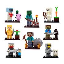 Set Tipo Minecfraft Ladrillos Tipo Lego 8 Figuras