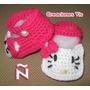 Zapatitos Hello Kitty Bebé Tejidos A Mano Crochet Varios Mod