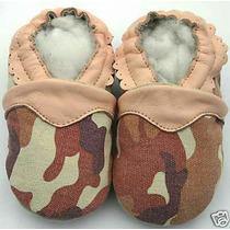Zapatitos Pantunflitas Mocasines Para Bebé 100% Piel 10.5cm
