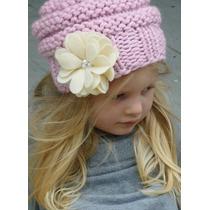 Gorro Tejido A Mano Niñas Mujeres Crochet