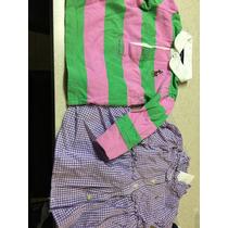 Lote 2 Ralph Lauren 1 Vestidos Y 1 Blusa 6-9 Meses Niña