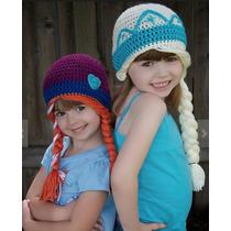 Elsa Y Anna Frozen Gorros Y Coronas Tejidas