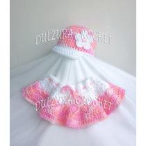 Conjunto Gorro Y Falda Tejidos Crochet Bebes Babyshower