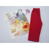Conjunto Blusa Y Pantalon Polar Niña Blanca Nieves 2 Años
