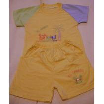 Conjunto Short Y Camiseta Para Bebe Talla 6-9 Meses Amarillo