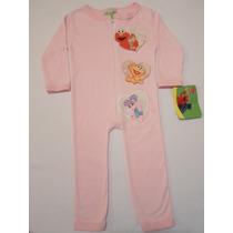 Pijama Mameluco Niña Elmo Abby Plaza Sesamo 6 Y 12 Meses